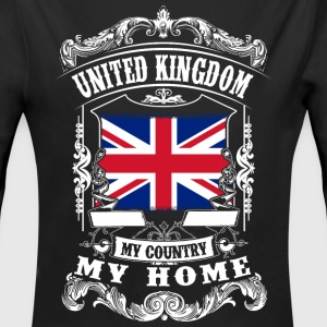 United Kingdom - My country - My home Babybody - Ekologisk långärmad babybody