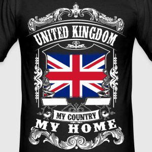 United Kingdom - My country - My home T-Shirts - Männer Slim Fit T-Shirt