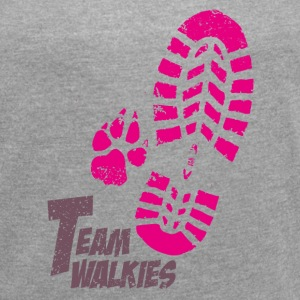 Team walkies pink T-Shirts - Women's T-shirt with rolled up sleeves
