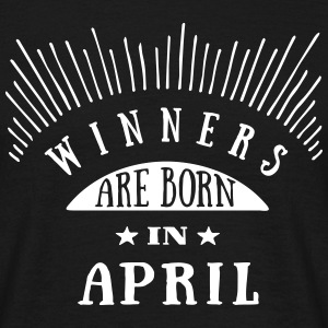 Winners Are Born In April - 1C T-Shirts - Männer T-Shirt