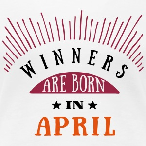 Winners Are Born In April - 3C T-Shirts - Frauen Premium T-Shirt