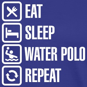 Eat Sleep Water Polo Repeat T-shirts - Mannen Premium T-shirt