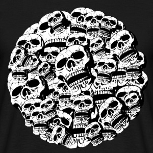 skulls in a round frame T-Shirts - Men's T-Shirt