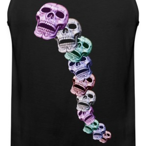 colored skulls in a line Sports wear - Men's Premium Tank Top