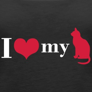 I love my cat Tops - Women's Premium Tank Top
