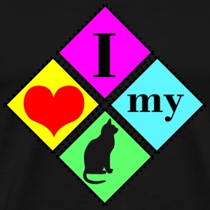 I love my cat T-Shirts - Men's Premium T-Shirt