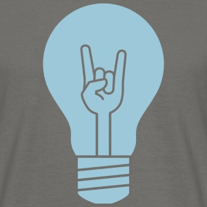 metal flash bulb - Männer T-Shirt
