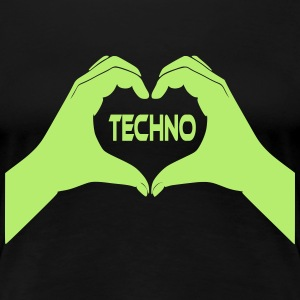 I Love Techno T-Shirts - Frauen Premium T-Shirt