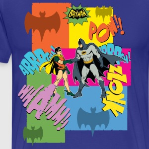 DC Comics Batman Robin Dynamisches Duo Retro - Männer Premium T-Shirt