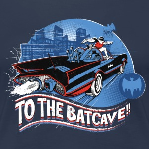 DC Comics Batman Robin Batmobil Batcave Retro - Frauen Premium T-Shirt