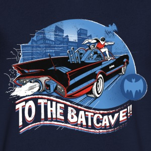 DC Comics Batman Robin Drive Batmobile Retro - T-skjorte med V-utsnitt for menn