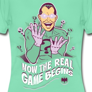 DC Comics Batman Villain The Riddler Quote - Vrouwen T-shirt