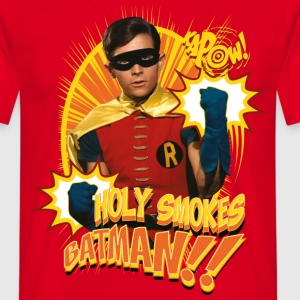 DC Comics Batman Robin Holy Smokes Spruch - Männer T-Shirt