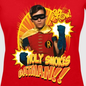DC Comics Batman Robin Holy Smokes Quote - Vrouwen T-shirt met V-hals
