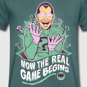 DC Comics Batman Villain The Riddler Quote - Mannen T-shirt met V-hals