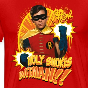 DC Comics Batman Robin Holy Smokes Quote - Premium-T-shirt herr