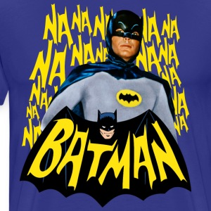 DC Comics Batman Vintage Actor Theme Song - Premium-T-shirt herr