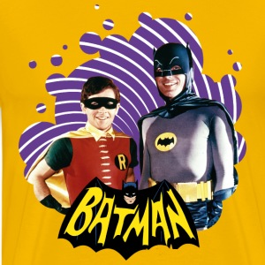 DC Comics Batman Robin Dynamic Duo Actors - Premium-T-shirt herr