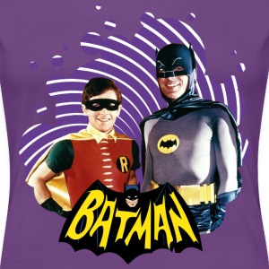 DC Comics Batman Robin Dynamic Duo Actors - Premium T-skjorte for kvinner