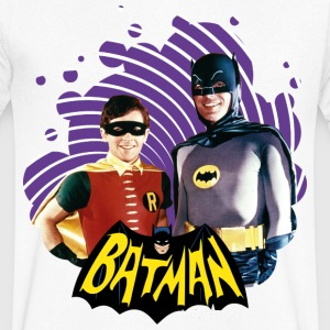DC Comics Batman Robin Dynamic Duo Actors - T-skjorte med V-utsnitt for menn