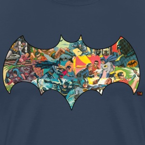 DC Comics Batman Robin Fight Crime Bat Symbol - Premium T-skjorte for menn