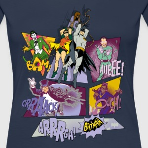 DC Comics Batman Collage Des Personnages - T-shirt Premium Femme