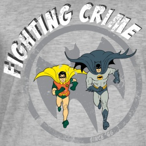 DC Comics Batman Robin Fighting Crime Vintage - Mannen Vintage T-shirt