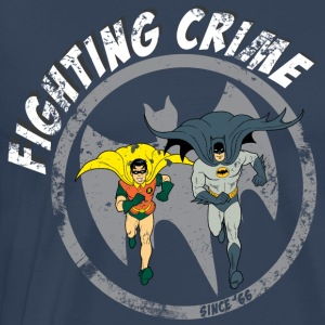 DC Comics Batman Robin Fighting Crime Vintage - Premium-T-shirt herr