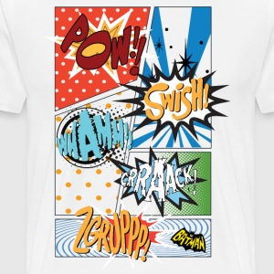 DC Comics Batman Coole Soundeffekte Panels - Männer Premium T-Shirt