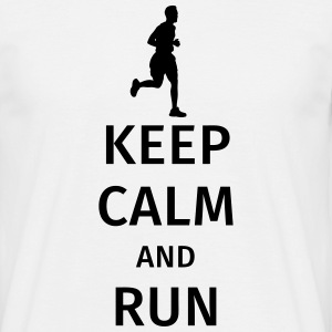 Keep Calm and Run T-Shirts - Männer T-Shirt
