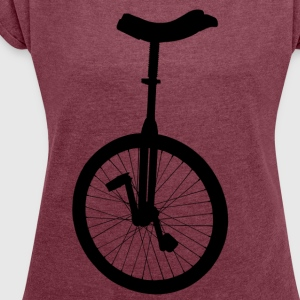 unicycle T-Shirts - Women's T-shirt with rolled up sleeves