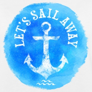 LETS  SAIL AWAY T-shirts - Vrouwen oversize T-shirt