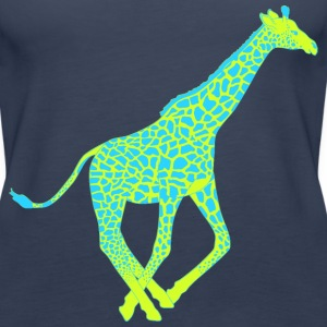 Giraffe blue yellow Tops - Women's Premium Tank Top