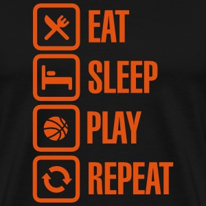Eat Sleep Basketball Repeat T-shirts - Mannen Premium T-shirt