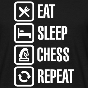 Eat Sleep Chess Repeat T-skjorter - T-skjorte for menn