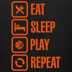 Eat Sleep Basketball Repeat Sportsbeklædning - Herre Premium tanktop