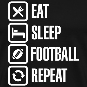 Eat Sleep American Football Repeat T-shirts - Premium-T-shirt herr