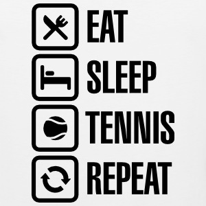 Eat Sleep Tennis Repeat Sportkleding - Mannen Premium tank top