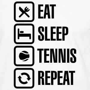 Eat Sleep Tennis Repeat T-shirts - Mannen contrastshirt