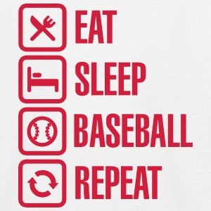 Eat, Sleep,  Baseball / Softball, Repeat Magliette - Maglietta da baseball per bambini