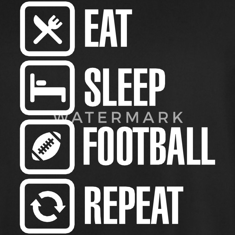 Eat Sleep American Football Repeat T-Shirts - Männer Fußball-Trikot
