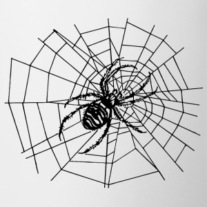 spider in the net Mugs & Drinkware - Mug