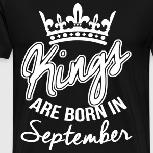 Born In September T-Shirts - Männer Premium T-Shirt
