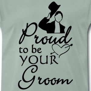 Proud Groom (Bräutigam)  T-Shirts - Men's Premium T-Shirt