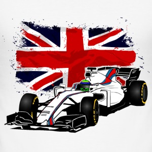 Racecar - Rennauto - Union Jack - UK Flag T-Shirts - Männer Slim Fit T-Shirt