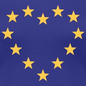 EU stars heart, Europe, flag, european union T-Shirts - Women's Premium T-Shirt