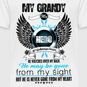 My Grandy My Hero My Guardian Angel Watches Over  Shirts - Teenage Premium T-Shirt