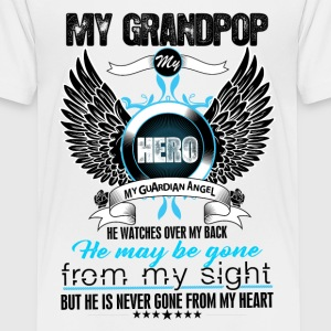 My Grandpop My Hero My Guardian Angel Watches Ove Shirts - Teenage Premium T-Shirt