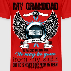 My Granddad My Hero My Guardian Angel Watches Ove Shirts - Kids' Premium T-Shirt