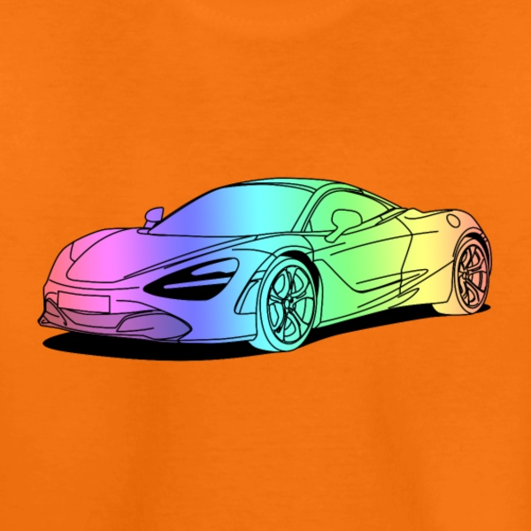 720s Coupe colourful T-Shirts - Kinder Premium T-Shirt